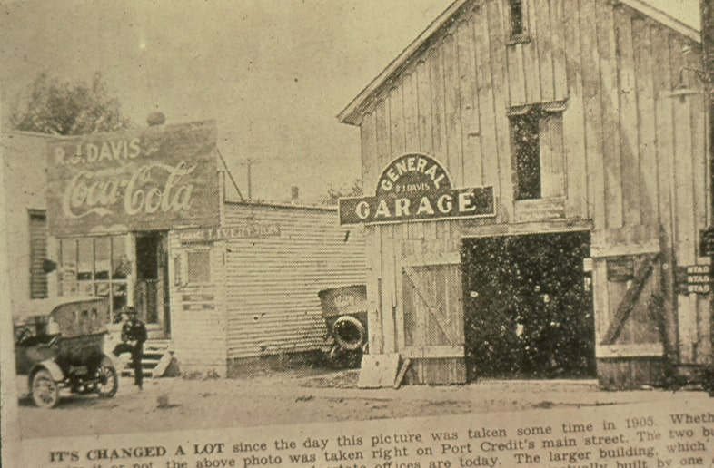 Davis Garage, Port Credit, 1905.jpg
