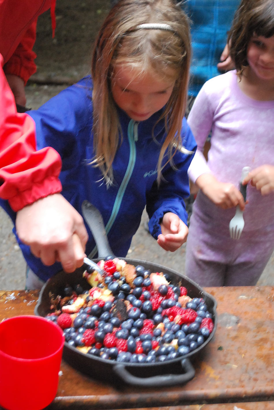 Kids cooking at summer camp