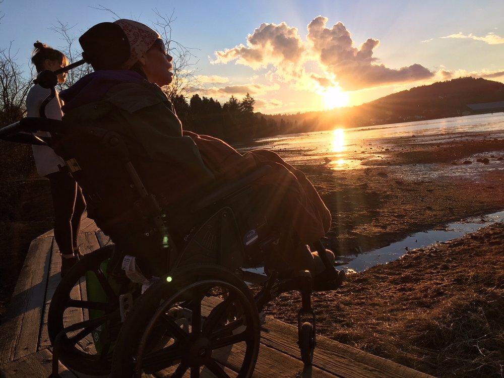 Linda looking at the Yukon Sun