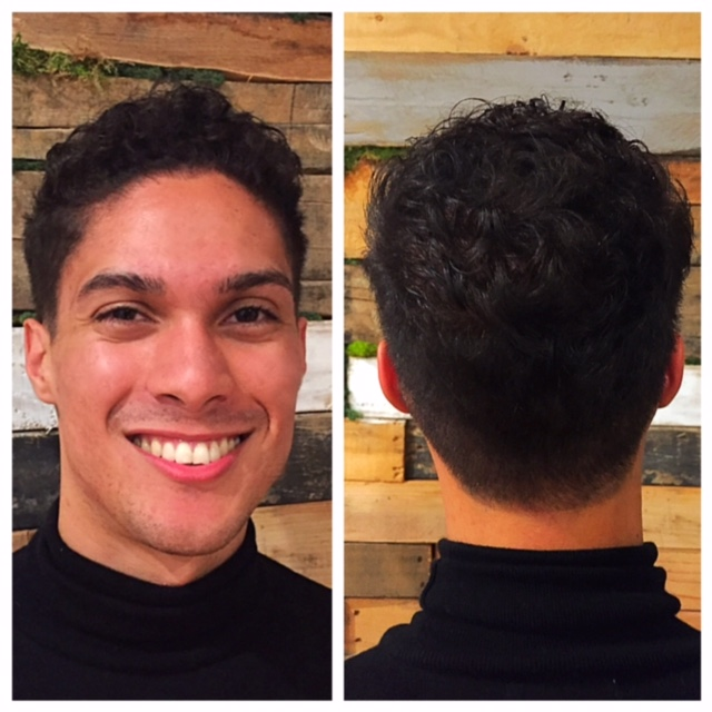 Curly hair mens haircut