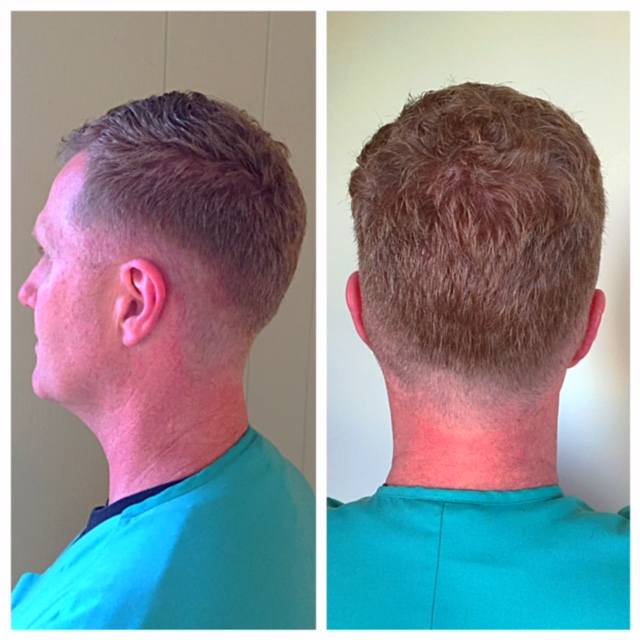 Tapered and medium fade men's haircut