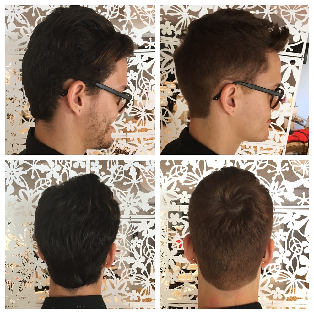 Men's Color and Haircut - Sam