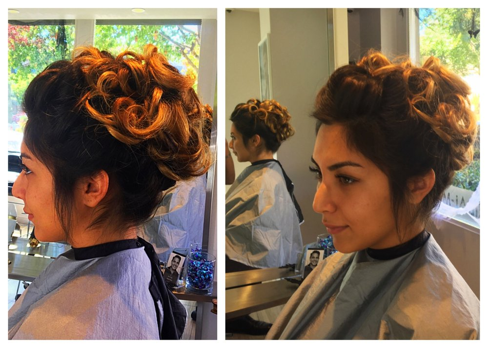 Up Do for a Bridal Party
