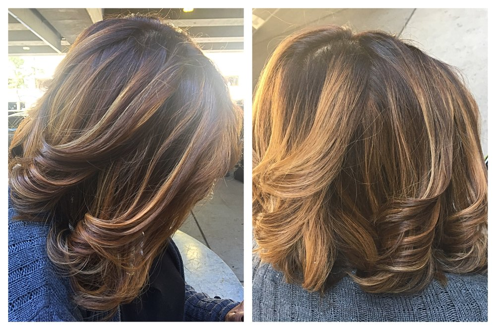Full Balayage and haircut