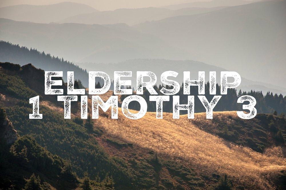 30/10/16 - 1 Timothy 3
