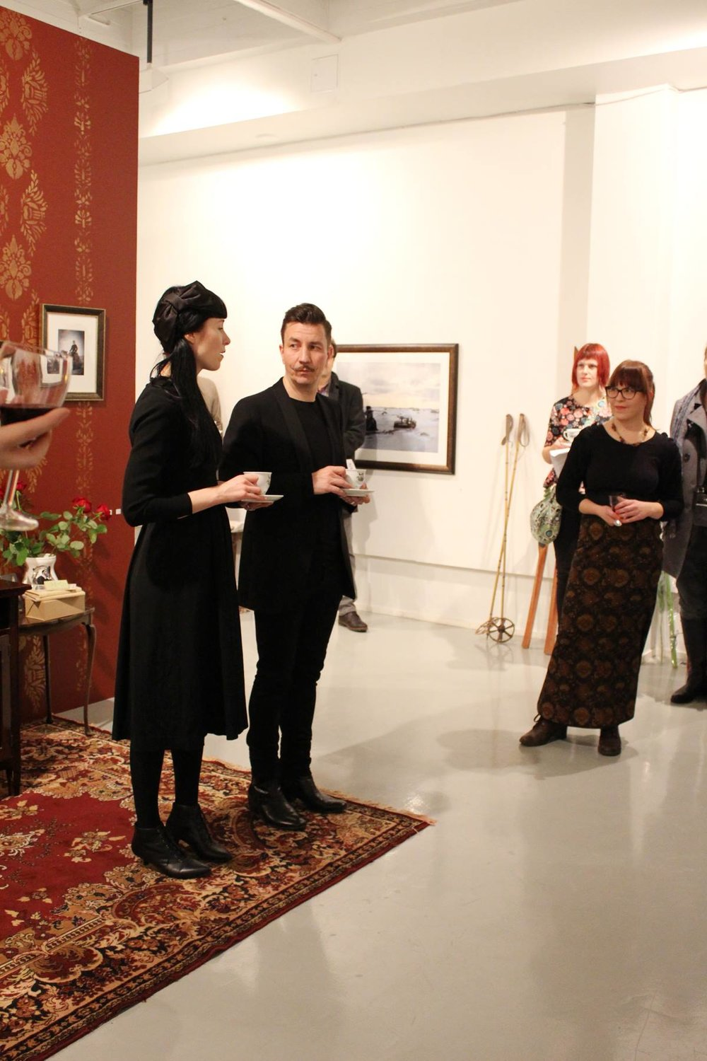 "2014 Opening of the exhibition ""Time Travel"". Photo: Lilli Haapala."