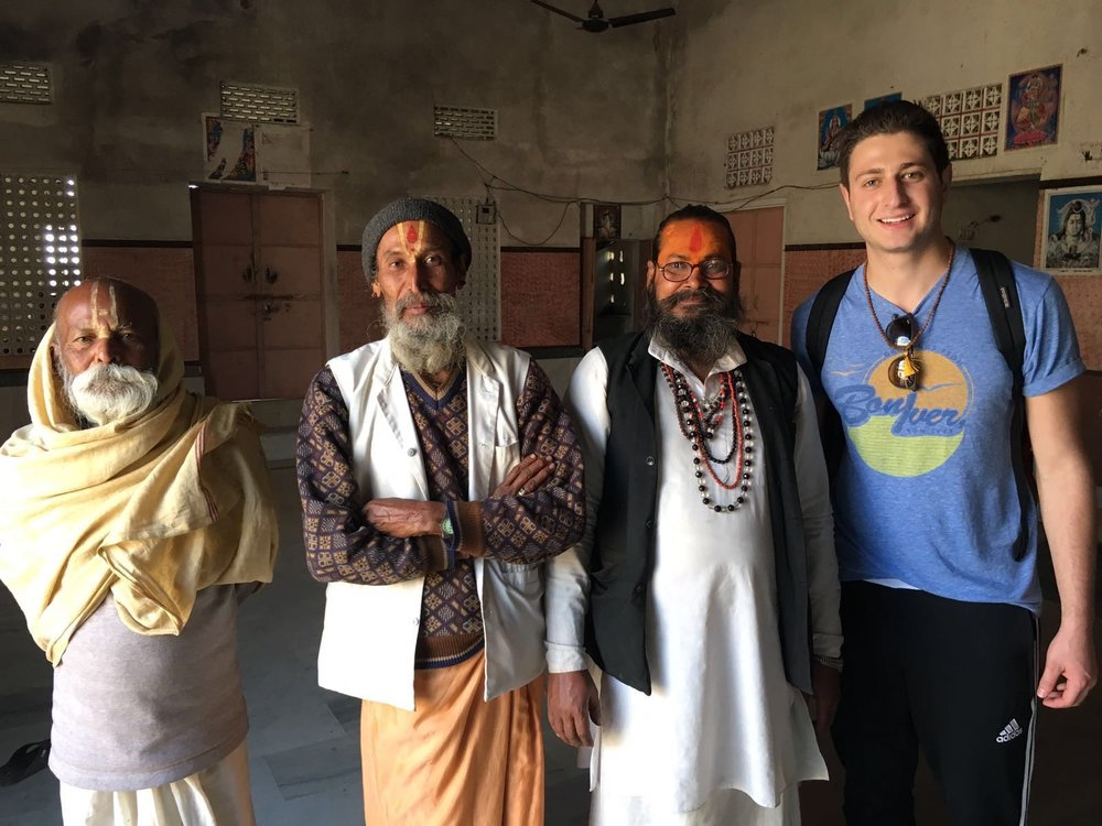 With the Holy Men in India