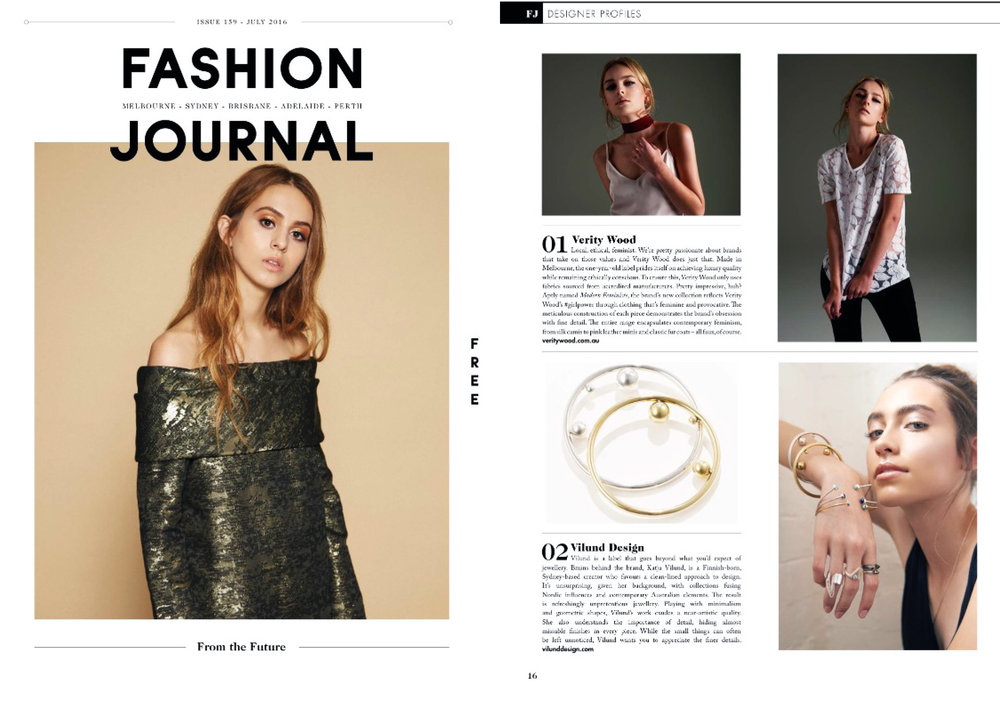 FASHION JOURNAL AUGUST 2016