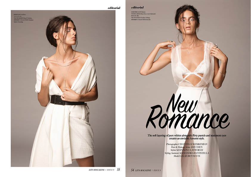 LITA MAGAZINE 'NEW ROMANCE' EDITORIAL, ISSUE 9, 2106