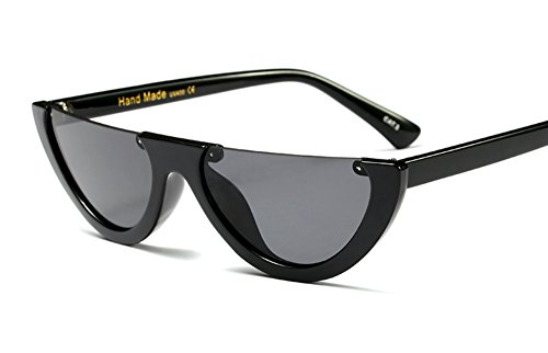 Kelsey Simone rimless half lunar rimless sunglasses