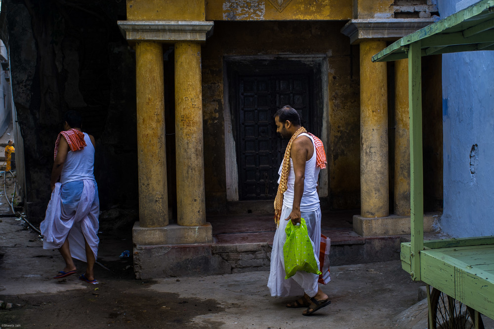 Outside ur ancestral house. Nawagarhi street. Gaya. Bihar, India. 2015.