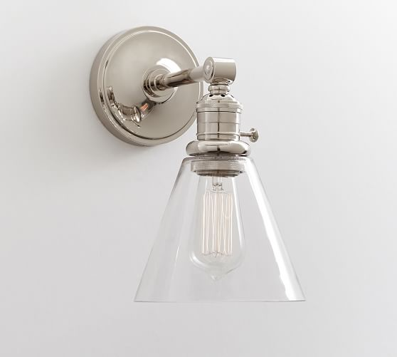 POTTERY BARN // CLASSIC SCONCE FLARED GLASS