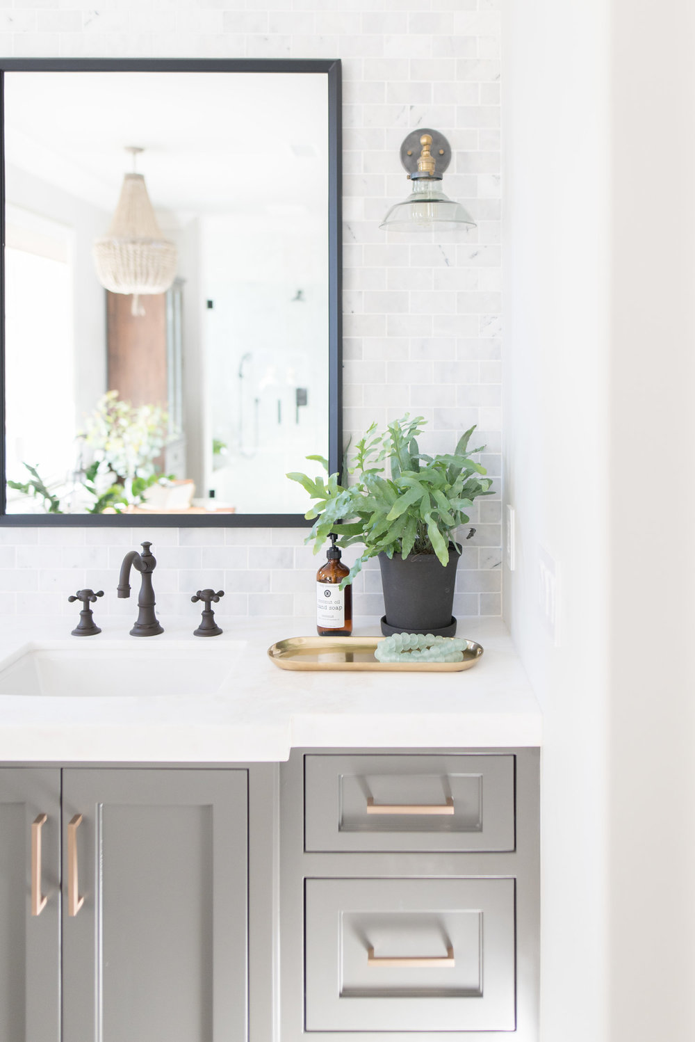 Design: Pure Salt Interiors, Photography: Steph Anderson Countertops: Calcutta Marble in Mystery White