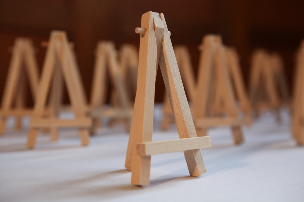 Mini wooden table easels