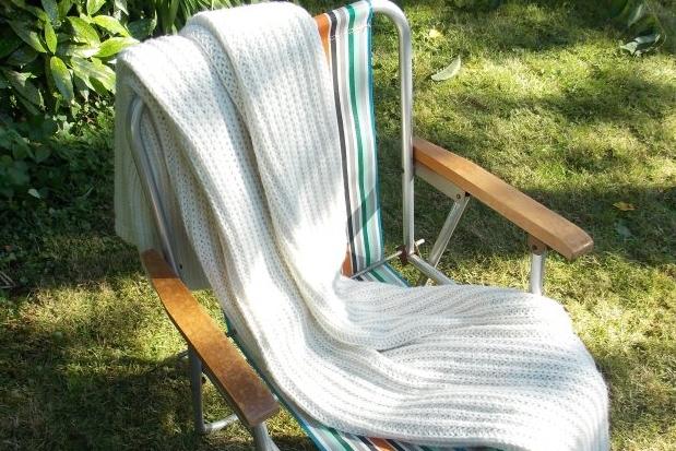 Cream Crochet Blankets