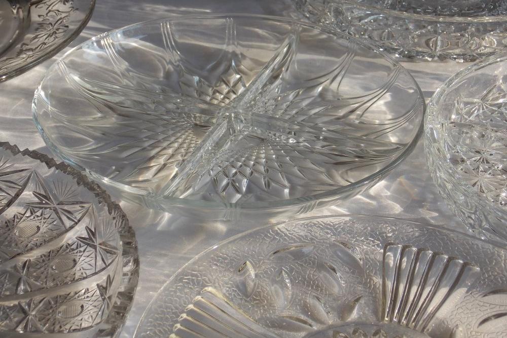 Glass Dip/Serving Plates