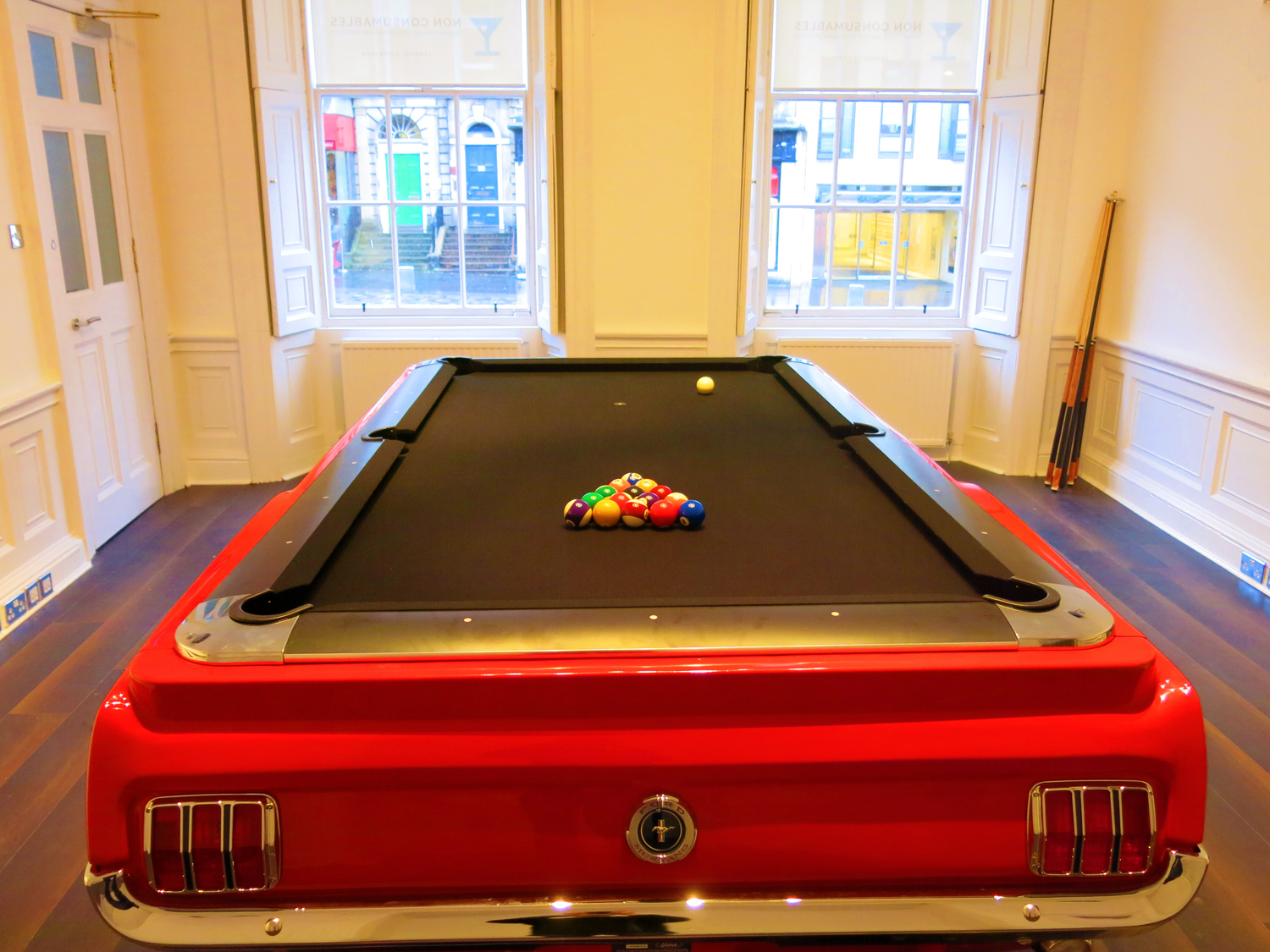 Ford Mustang Car Pool Tables UK - Mustang pool table