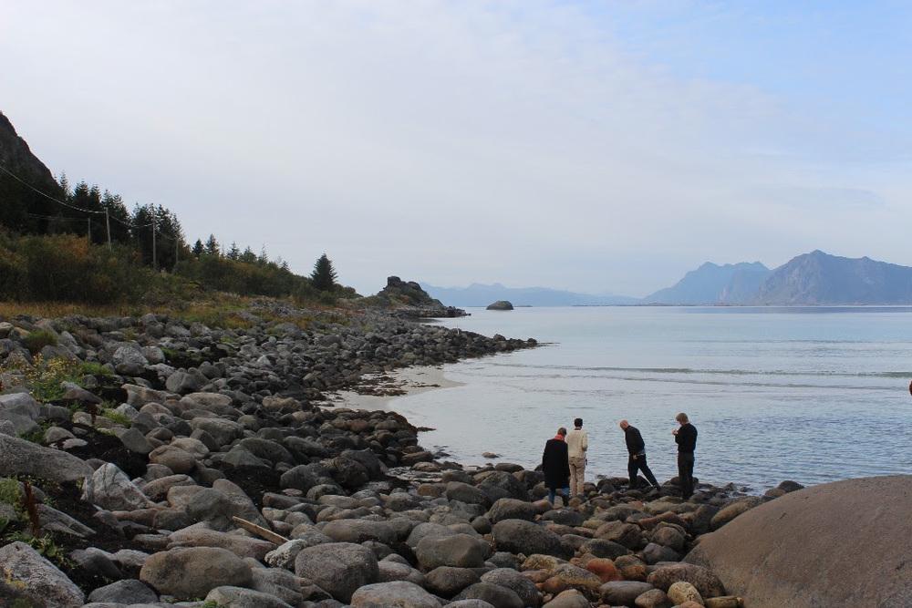 Kunsnarar på research i Lofoten