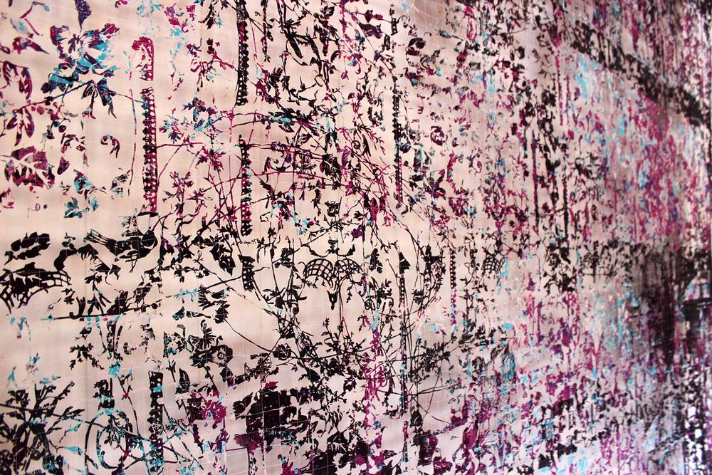 """Detalj av """"Linjer""""  Anne-Gry Løland"""
