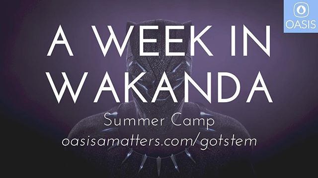 Grades 2-5 Summer Camp June 17-21, 9am-4pm . . . Spend a week in glorious Wakanda. Want to know more about the fictional ore, vibranium? Were you intrigued by the beautiful clothing being worn by Wakandans? . . Want to learn more about their advanced modes of transportation? In this hybrid camp, we'll learn and create around ALL of the things that make Wakanda such an aspirational idea--history, technology, fashion, and music. Your child will engage in Computer Aided Drafting (CAD), 3D printing, metallurgy, textiles, drum-making, poetry, and so much more. Each day will have a different focus with plenty of hands-on maker activities as well as mental journeys to give historical context. Your child will leave with a deeper understanding of technology, history, and Afrofuturism and end the week with an African-inspired ceremony. Early Bird by February 28th: $269;  Regular Price, Beginning March 1st: $299 . . . Visit the link to register and for more info!