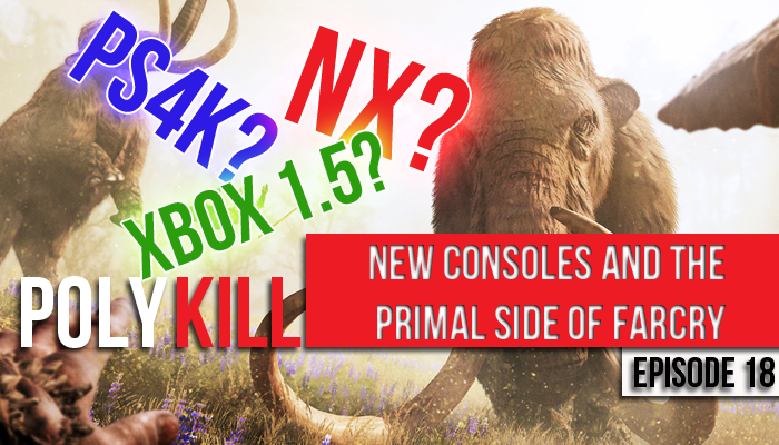 "In this episode, Jake waxes eloquent about the joys of Farcry Primal, and Trav discuss his love of an NES classic and it's sequel. Games are checked in and out of the backlog and ""mid-cycle"" console releases are the topic of discussion!"