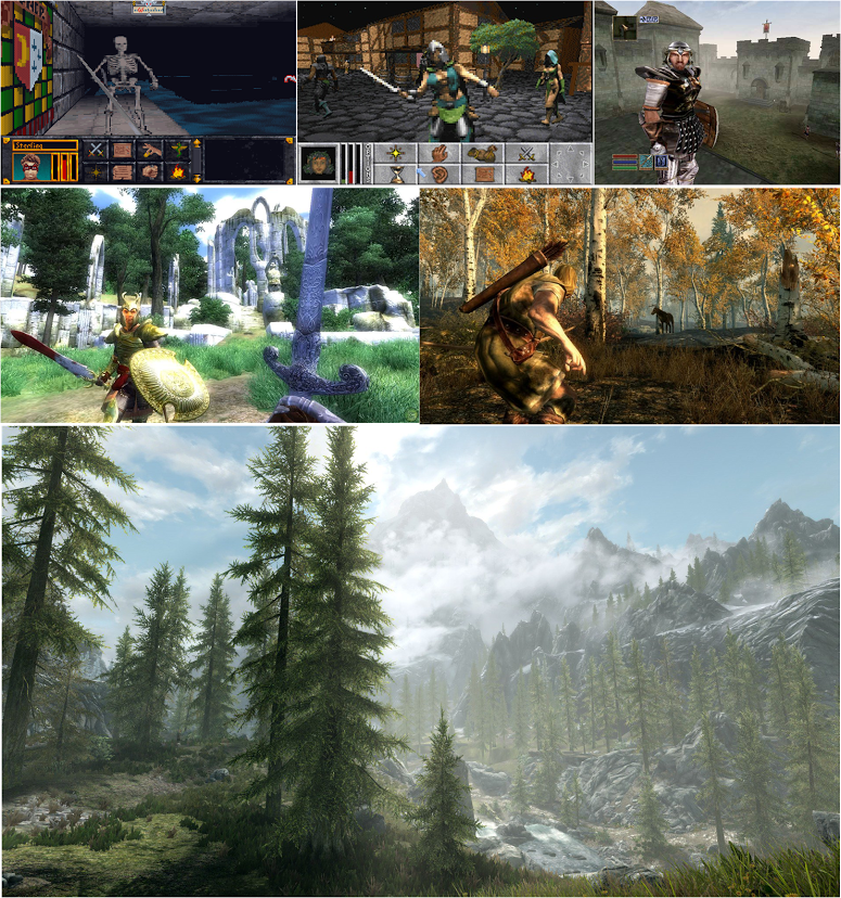 Elder Scrolls over the years.