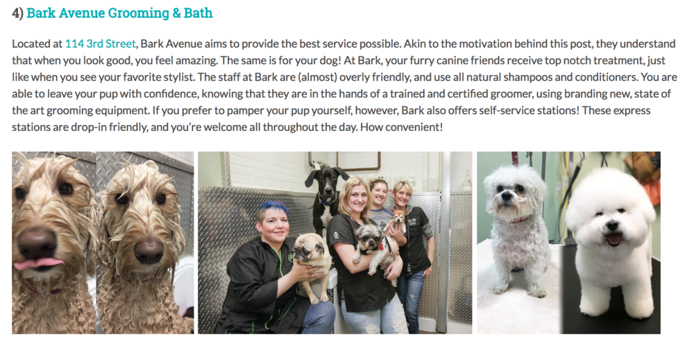 Thank you GoFetch Blog! - So honored to be mentioned in GoFetch's blogpost about top groomers in Vancouver. What kind words; we're so happy to provide such fun and loving service for your pup!