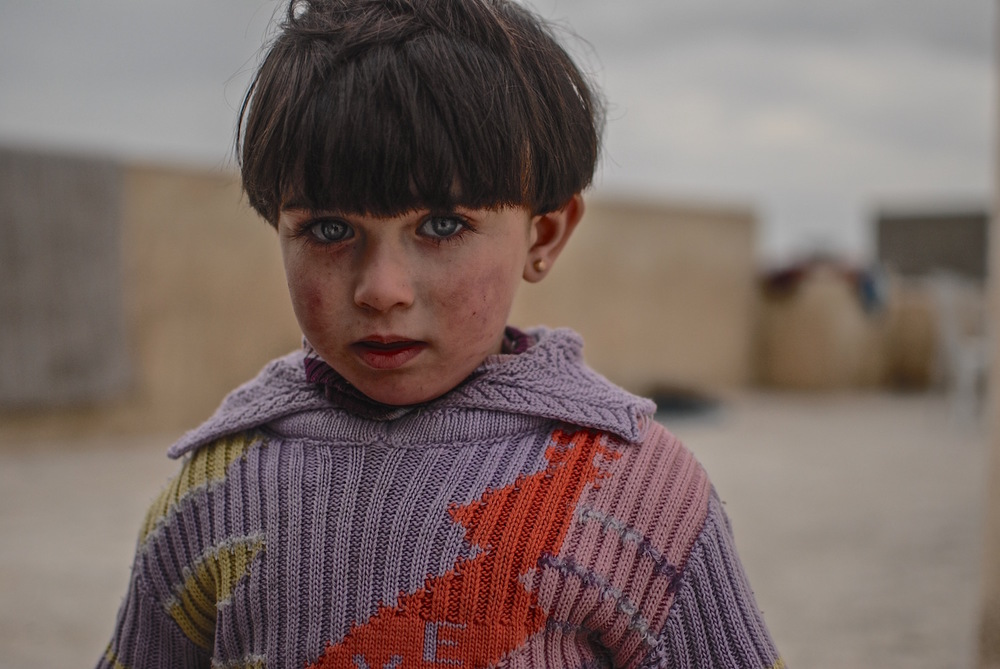 Syria.  Refugee in the outskirts of Aleppo.