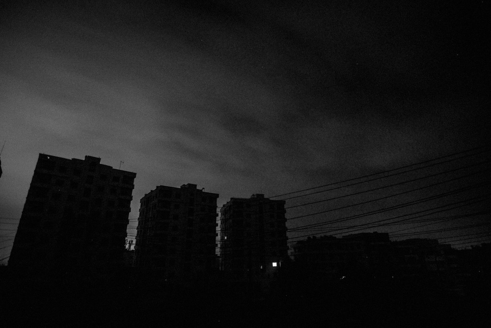 Electricity is rare in Aleppo. Only the ones who own a generator have light at night