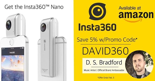 LIMITED TIME: Get the @insta360official Nano on @amazon, use my promo code for 5% off! Offer ends 2/5: Link in bio