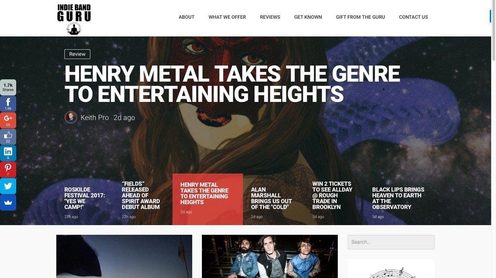 Indie Band Guru - Blog/Artist Services