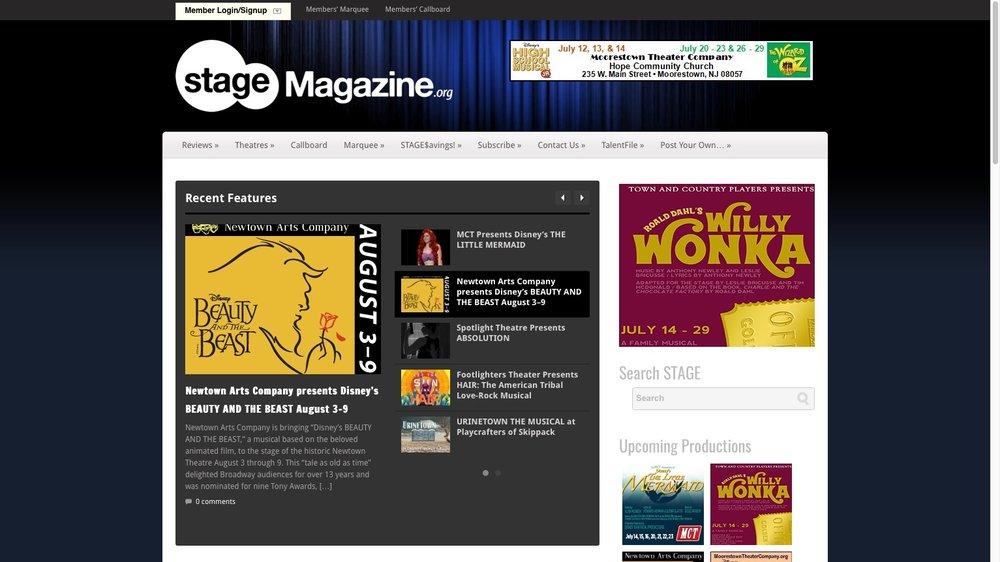 Stage Magazine - Theatre News
