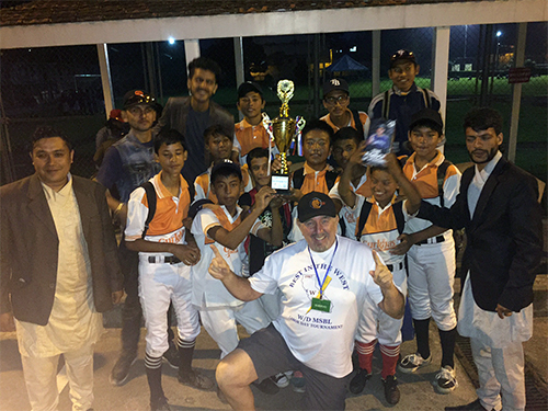The kids I coached came in 2nd in the first ever Nepal baseball Tournament!