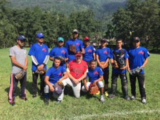 Nepal's Army Police Force team wearing Mill Valley Senior Minors uniforms