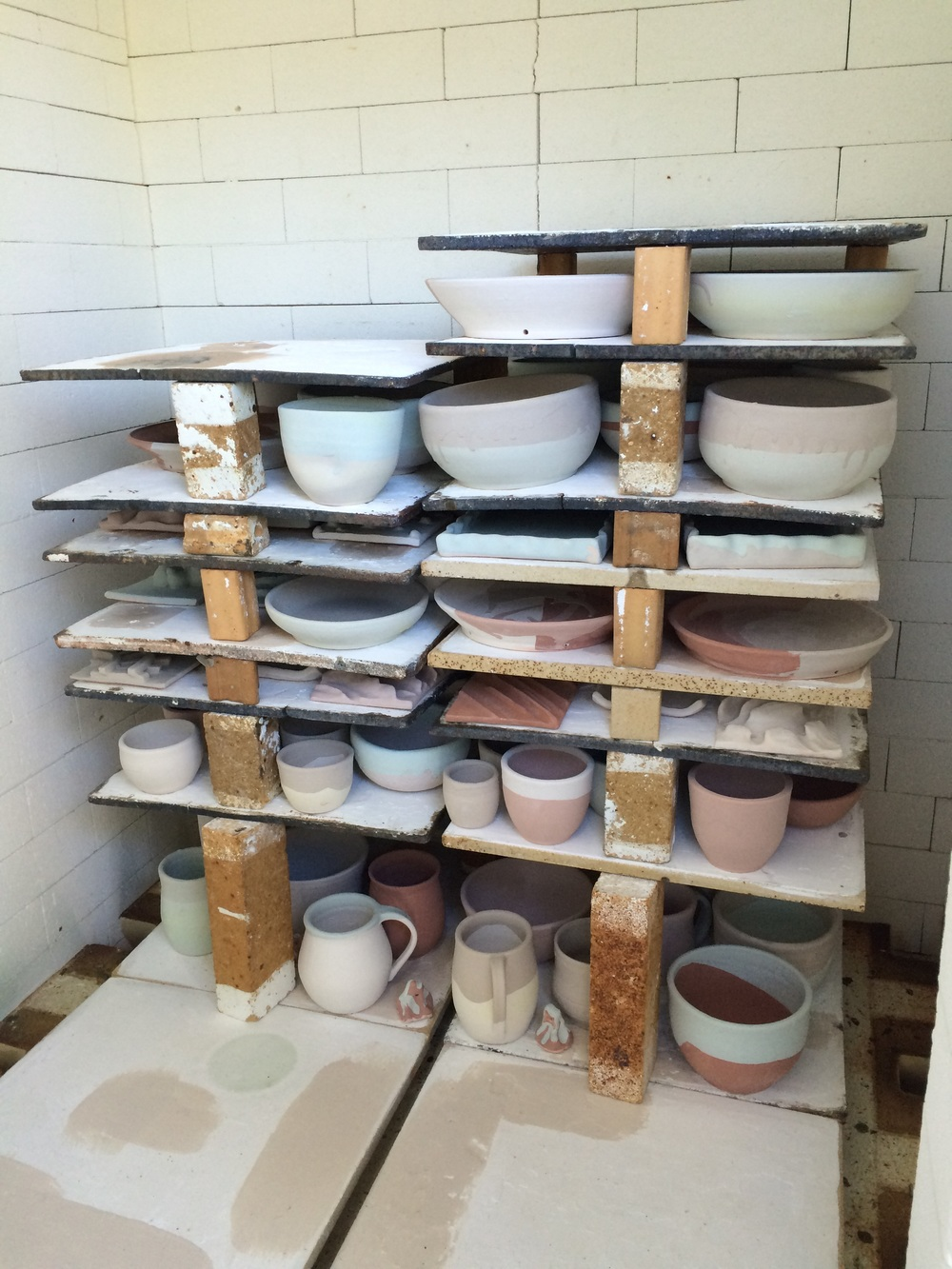 Partially loaded kiln