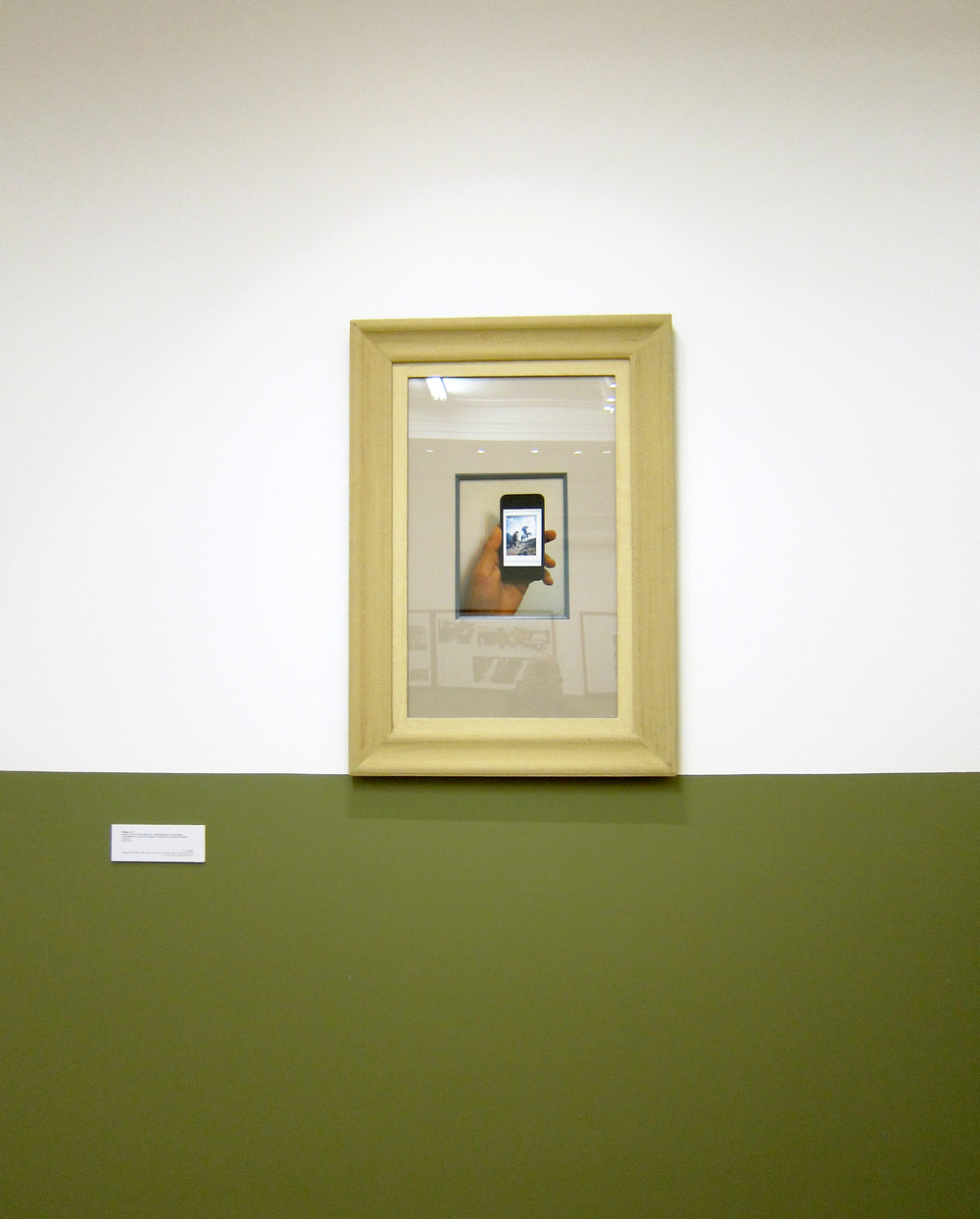 Framed C-print of a photograph of an undated painting by A. Scognamiglo entitled Painter on a Study Trip captured on an iPhone at the Alexandria Museum of Fine Art 100 x 70 cm