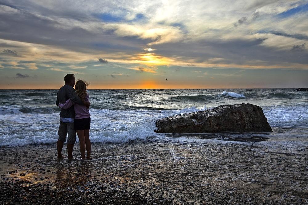 Solnedgang ved vesterhavet