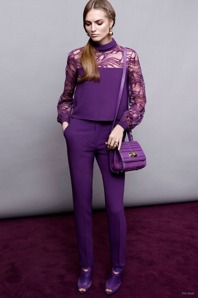 Head-to-toe purple from Elie Saab