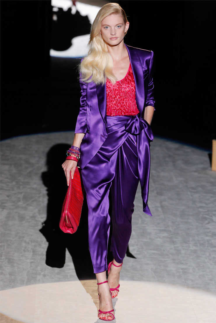 Purple and red from Salvatore Ferragamo