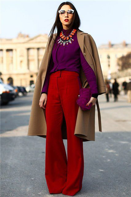 Purple and red pants