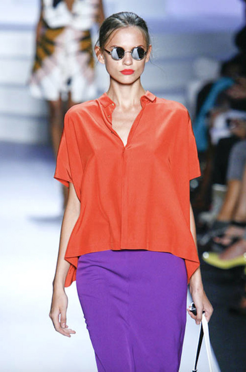 Purple and orange from DVF