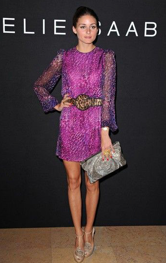 Purple leopard print dress