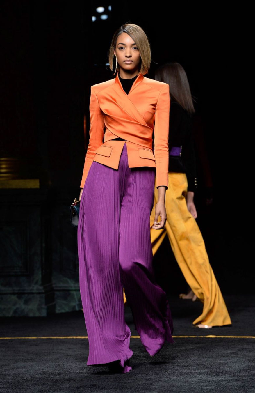 Purple and orange from Balmain