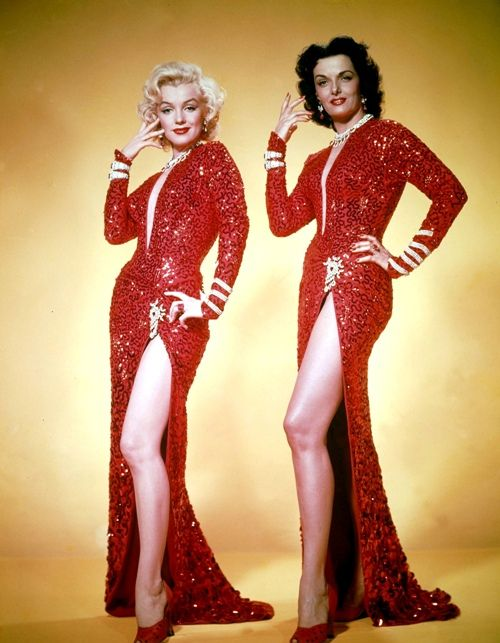 Marilyn Monroe and Jane Russell in 1953's 'Gentlemen Prefer Blondes' (Credit: Gene Lester/Getty Images)