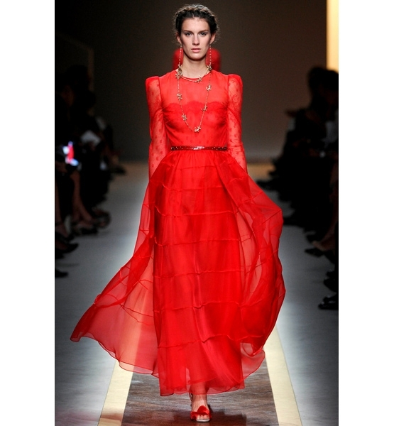 Valentino, Master of Couture, Red Dress (Credit: Valentino S/S12 Imaxtree)