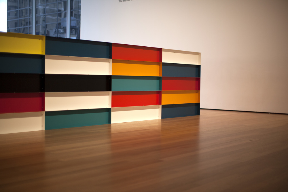 Donald Judd, Untitled, 1985, enameled aluminum © Judd Foundation. Licensed by VAGA, New York, NY. Photo by Maggie Meiners
