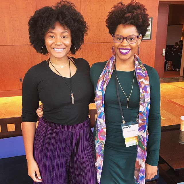 """womanism is to feminism as purple is to lavender"" 💜💜💜 #nwsa2018  with my wonderful, brilliant friend ✨"