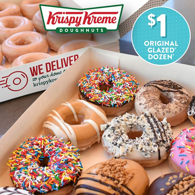 BIRTHDAY TREATS Krispy Kreme's birthday is on Friday and to celebrate they are selling $1 dozens of their deliciously famous Original Glazed® doughnuts when you purchase any dozen full price.(An Original Glazed Dozen is valued at $19.95. Offer available at Henry Deane Plaza on 28/9/18 only). Doughnut miss out! #krispykreme #doughnuts #henrydeaneplaza