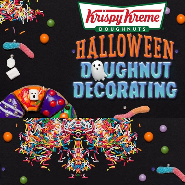 HALLOWEEN DOUGHNUT DECORATING Come to Krispy Kreme these holidays for some spooky Doughnut Decorating fun! Running only on Wednesday October 31, the sessions last 20 minutes and are suitable for kids aged 4 and over (and yes it can be way over ;) Kids will be able to decorate 2 x Original Glazed Doughnuts with a range of Halloween themed icings and toppings and will also receive a balloon and the iconic Krispy Kreme paper hat. $7.50 per child so don't wait and book now. Visit www.krispykreme.com.au. #krispykreme #henrydeaneplaza
