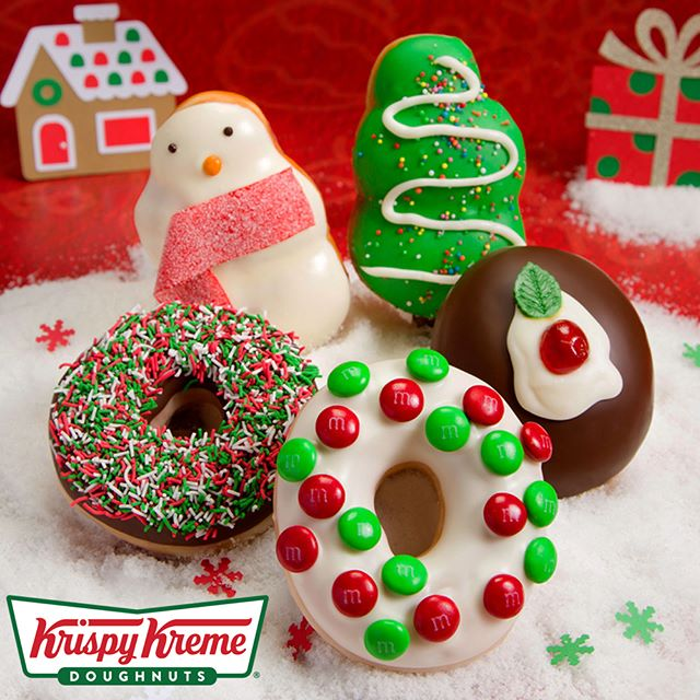 'Tis the season to bring smiles! Introducing Krispy Kreme's dough-licious new Krispymas range.The range includes 5 limited edition doughnuts: Snowy (filled with strawberry jam), Wreath with M&M's®, Santa Sprinkles, Krispymas Pudding (filled with custard) and Christmas Tree. Available until December 25th at Henry Deane Plaza. #krispykreme #doughnuts #henrydeaneplaza